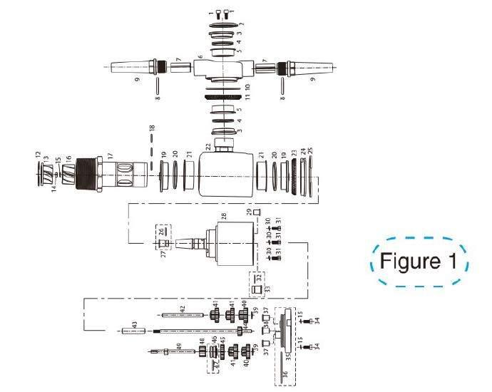diagramme schématique figure1 de la buse de nettoyage de réservoir de 360a