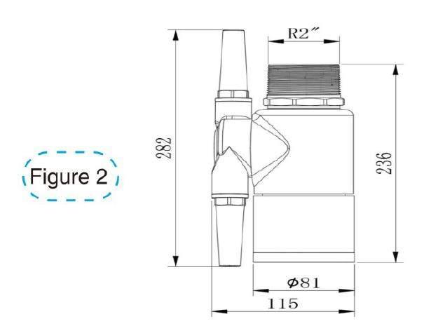 diagramme schématique figure2 de la buse de nettoyage de réservoir de 360a